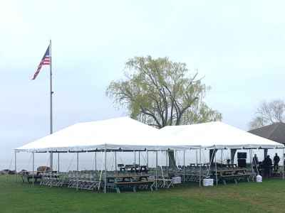 Two 20x40 tents w/ 160 chairs